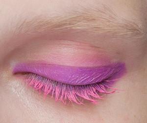 pink, makeup, and eye image