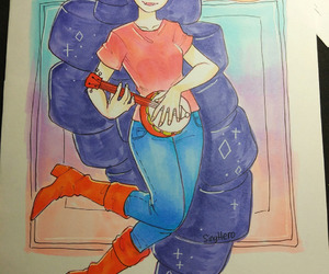 coloring, marceline, and adventure time image