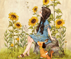 art and sunflower image