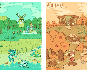 animal crossing, cafe, and fan art image
