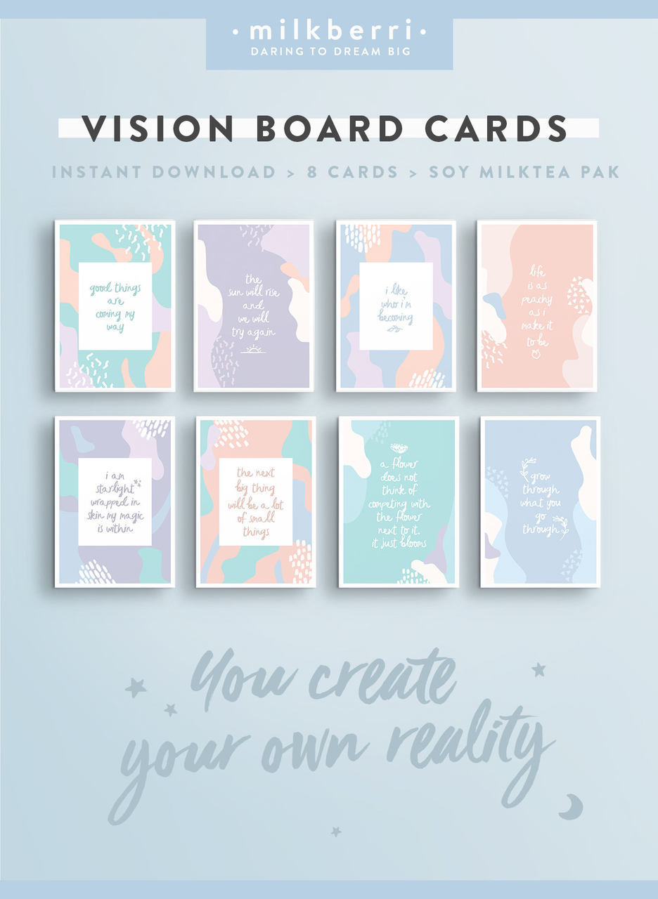 Vision Board Quote Cards #6 • Quote Print. Cute Vision Board ...