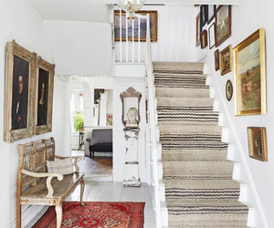 hallway, home decor, and stairs image