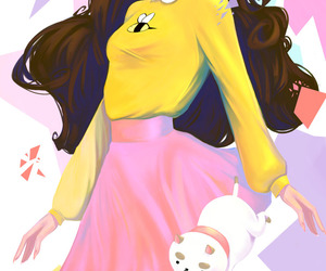 digital art and bee and puppycat image