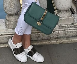 adidas, bag, and green image