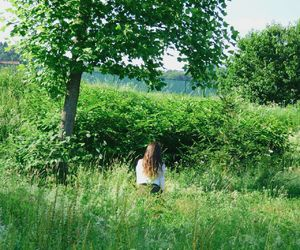 hair, happiness, and nature image