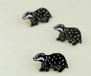 hufflepuff, badger, and pins image