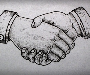 handshake and tattoo image