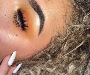 makeup, eyeshadow, and orange image
