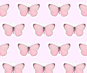 butterfly, overlay, and pattern image