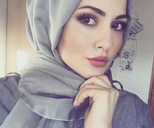 hijab, girl, and islam image