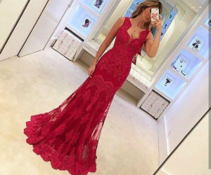 dresss, red, and perfect image