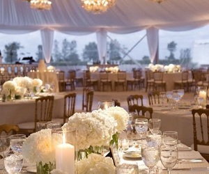 wedding, reception, and white image