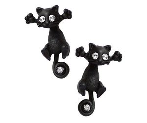 cat and earrings image