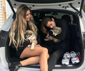 couple, dog, and cute image