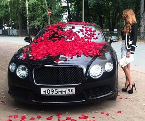 car, luxury, and rose image