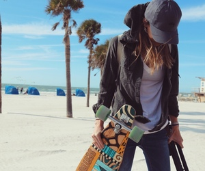 clothes, girl, and skate image