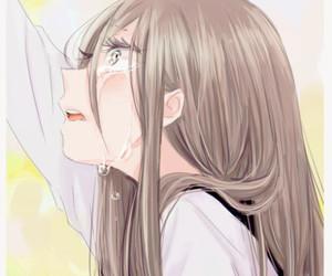 anime girl, crying, and anime image