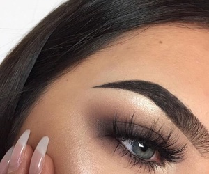nails, makeup, and style image