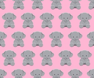 elephant, gris, and pink image