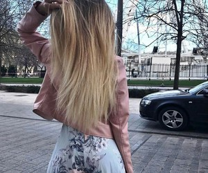 blond, girl, and summer outfit image