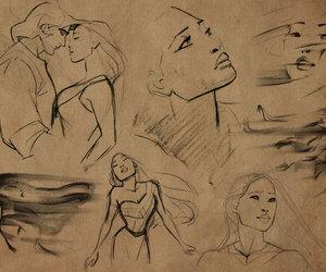 pocahontas, disney, and drawing image
