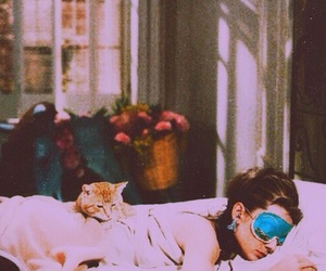 audrey hepburn, sleep, and Breakfast at Tiffany's image