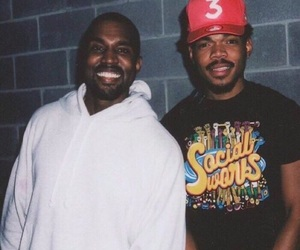 kanye and chance the rapper image