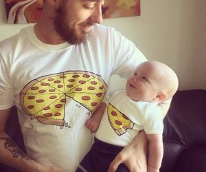 family, pizza, and baby image