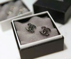 chanel, earrings, and coco chanel image