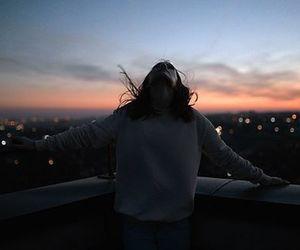 girl, freedom, and sky image