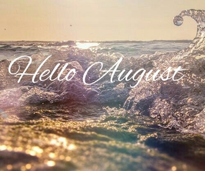 August, beach, and hello image