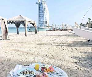 beach, Dubai, and morning image
