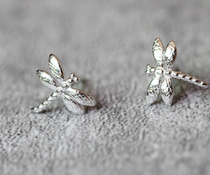 dragonfly, cute earrings, and fashion earrings image