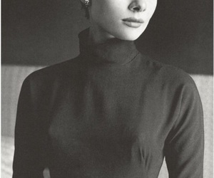 audrey, beauty, and black and white image