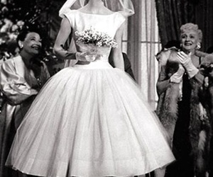 audrey hepburn, funny face, and wedding dress image