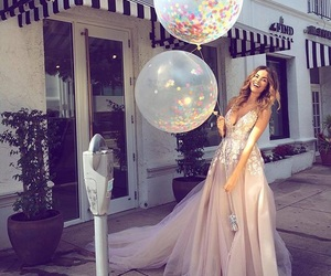 dress, balloons, and fashion image