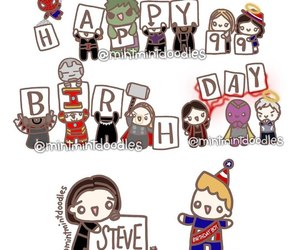 captain america, Marvel, and happy bithday image