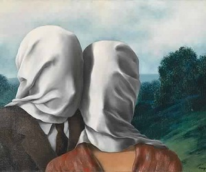 art, magritte, and painting image
