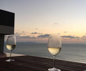 aesthetics, sunset, and drinks image