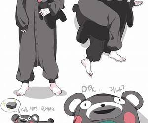bts, kumamon, and suga image
