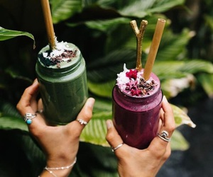 smoothies and vegan image