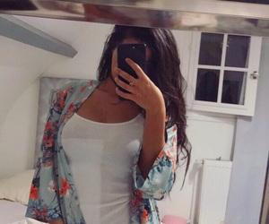 beauty, kimono, and miroir image