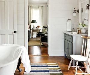 bathroom, home decor, and farmhouse image