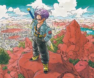 dragon ball, manga, and trunks image