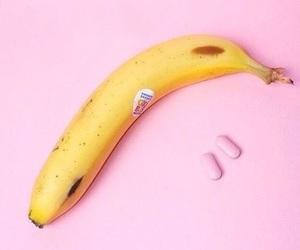 pink, banana, and tumblr image