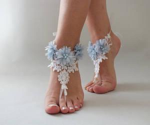 etsy, something blue, and wedding shoes image