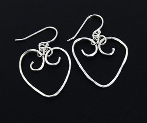 etsy, sterling silver, and hammered silver image