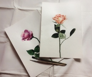 art, flowers, and flower image