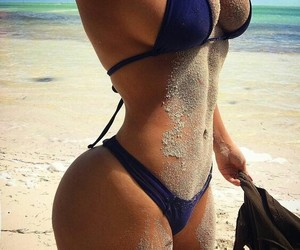body, beach, and bikini image