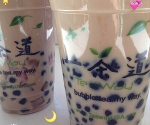 bubble tea, food, and tea image